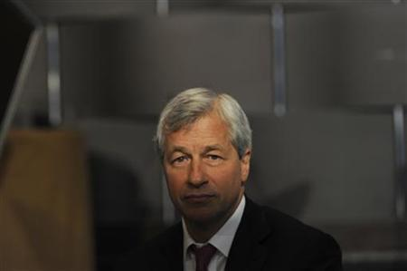Jamie Dimon, chairman and chief executive of JP Morgan Chase and Co, looks on at the 2012 Simon Graduate School of Business' New York City Conference in New York May 3, 2012. REUTERS/Keith Bedford