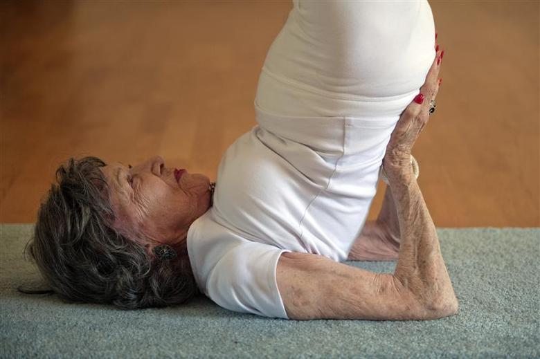 The Oldest Yoga Teacher Reuters Com
