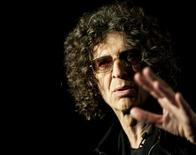 """Radio/TV personality Howard Stern speaks during an """"America's Got Talent"""" news conference in New York City May 10, 2012. REUTERS/Stephen Chernin"""