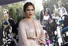"Cast member Jennifer Lopez poses at the premiere of ""What to Expect When You're Expecting"" at Grauman's Chinese Theatre in Hollywood, California May 14, 2012. REUTERS/Mario Anzuoni"