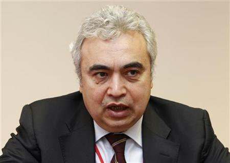 International Energy Agency's chief economist Fatih Birol speaks to Reuters during an interview in Baghdad February 29, 2012. REUTERS/Mohammed Ameen/Files