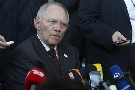 German Minister of Finance Schaeuble at a meeting in Copenhagen in this March 30, 2012 file photo. REUTERS/Fabian Bimmer