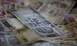 Indian currency of different denominations are seen in this picture illustration taken in Mumbai April 30, 2012. REUTERS/Vivek Prakash