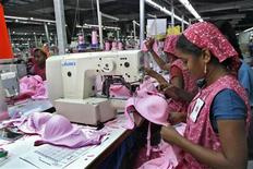 Workers produce bras for export at the Intimate Fashions factory in Kanchipuram district, 30 km (18 miles) south of India's southern city of Chennai, May 22, 2012. REUTERS/Babu