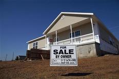 A newly constructed home is seen for sale in Joplin, Missouri May 16, 2012. REUTERS/Eric Thayer
