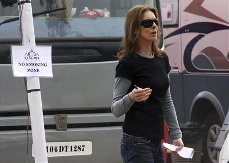 Oscar-winning director Kathryn Bigelow is seen at the shooting site of the movie ''Zero Dark Thirty'' in the northern Indian city of Chandigarh March 6, 2012. REUTERS/Ajay Verma/Files