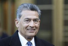 Rajat Gupta, a former director of Goldman Sachs Group Inc., exits Manhattan Federal Court in New York February 7, 2012. REUTERS/Brendan McDermid