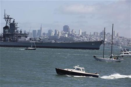 World War Two battleship USS Iowa sets off on final voyage