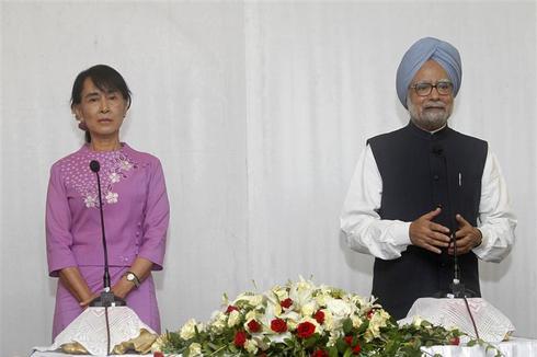 India courts Myanmar