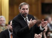New Democratic Party leader Thomas Mulcair speaks during Question Period in the House of Commons on Parliament Hill in Ottawa May 14, 2012. REUTERS/Chris Wattie