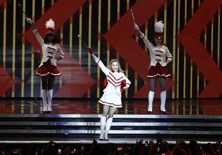 U.S pop singer Madonna performs during the opening concert of her MDNA world tour at Ramat Gan stadium near Tel Aviv May 31, 2012. REUTERS/Amir Cohen