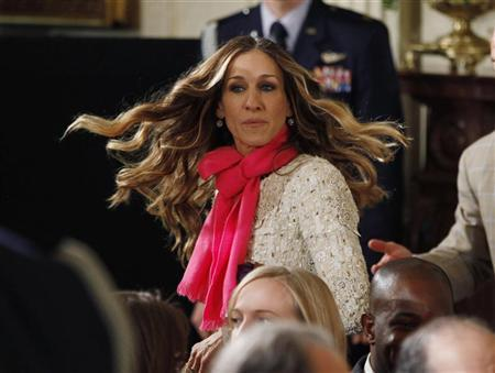 Actress Sarah Jessica Parker is pictured in the audience as she attends a National Medal of Arts and Humanities ceremony hosted by President Barack Obama, in the East Room of the White House in Washington, February 13, 2012. REUTERS/Jason Reed