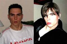 Rocco Luka Magnotta, also known as Eric Clinton Newman and Vladimir Romanov, in a combination image. REUTERS/Montreal Police