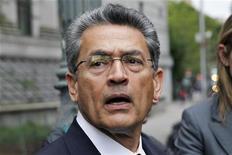 Rajat Gupta, a former Goldman Sachs Group Inc and Procter & Gamble board member, exits the Manhattan Federal Court in New York June 4, 2012. REUTERS/Eduardo Munoz