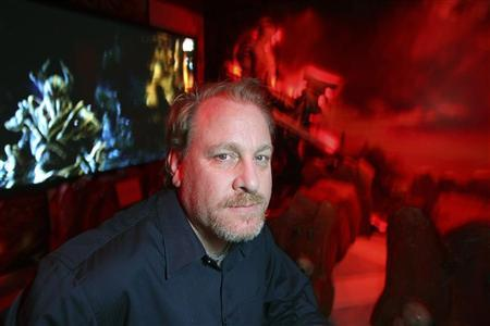Former MLB player Curt Schilling poses in a game demonstration room at the Electronic Entertainment Expo, or E3, in this photo taken June 9, 2011 in Los Angeles, California. REUTERS/David McNew