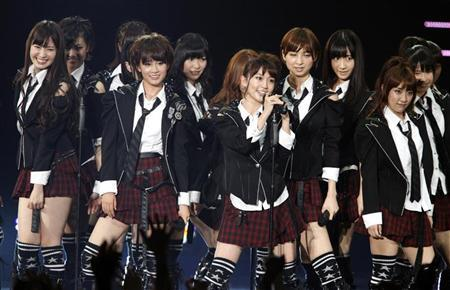 Japanese idol group AKB48 performs during the MTV Video Music Aid Japan in Chiba, near Tokyo June 25, 2011. REUTERS/Issei Kato