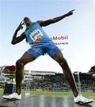 Detentor do recorde mundial dos 100 metros rasos e campeão olímpico, o jamaicano Usain Bolt (foto arquivo) se envolveu em um acidente de carro sem gravidade perto de sua casa, afirmou seu agente. REUTERS/Dylan Martinez