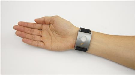 A biometric bracelet named ''Q Sensor'' is shown in this undated image released to Reuters on June 13, 2012. According to the manufacturer's website, the sensor measures ''emotional arousal in real-world.'' The Bill & Melinda Gates Foundation, which has poured more than $4 billion into efforts to transform public education in the U.S., is pushing to develop an ''engagement pedometer.'' Biometric devices wrapped around the wrists of students would identify which classroom moments excite and interest them -- and which fall flat. The foundation has given $1.4 million in grants to several university researchers to begin testing the devices in middle-school classrooms this fall. REUTERS/Affectiva/Handout