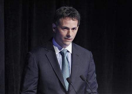 David Einhorn, president of Greenlight Capital, speaks during the Sohn Investment Conference in New York, in this May 16, 2012 file photo. Einhorn, best known for his prescient short bet against Lehman Brothers and more recently, Green Mountain Coffee Roasters, hasn't received the same attention for another notable bearish call - United States Steel. REUTERS/Eduardo Munoz/Files