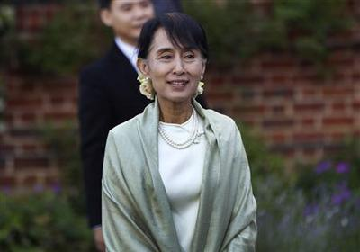 Suu Kyi says British support helped sustain her