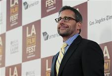 """Cast member Steve Carell poses at the premiere of """"Seeking a Friend for the End of the World"""" during the Los Angeles Film Festival at the Regal Cinemas in Los Angeles, California June 18, 2012. REUTERS/Mario Anzuoni"""
