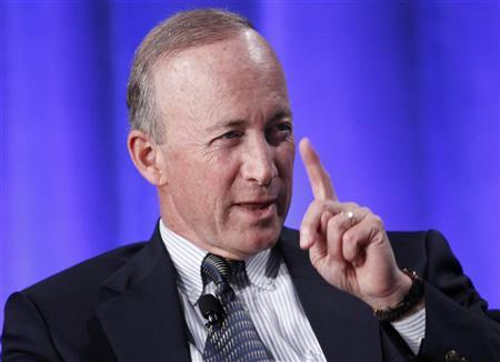State of Indiana Governor Mitch Daniels takes part in a panel discussion titled ''Why Wait for Washington? How States Can Create Jobs and Economic Growth'' at the Milken Institute Global Conference in Beverly Hills, California May 1, 2012. REUTERS/Danny Moloshok
