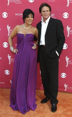 Bruce Jenner and wife Kris arrive at the 44th Annual Academy of Country Music Awards in Las Vegas in this file photo taken April 5, 2009. REUTERS/Steve Marcus/Files