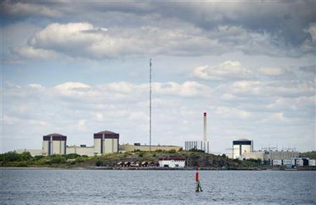 6月21日、スウェーデン南西部のリングハルス原子力発電所でフォークリフトから爆発物が見つかり、警察が捜査を開始した。写真は同原発の提供写真(2012年 ロイター)