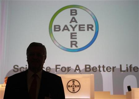 Werner Wenning, nominated Chairman of Supervisory Board of Bayer AG is silhouetted as he poses before the annual general meeting in Cologne April 27, 2012. REUTERS/Ina Fassbender