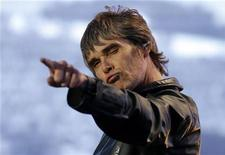 Ian Brown of British band The Stone Roses performs on stage on the opening night of their 3 night series of reunion concerts at Heaton Park in Manchester, northern England, June 29, 2012. REUTERS/Phil Noble