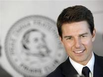 Actor Tom Cruise arrives before The Friars Club and Friars Foundation honored him with the Entertainment Icon Award at the Waldorf Astoria in New York June 12, 2012. REUTERS/ Andrew Kelly