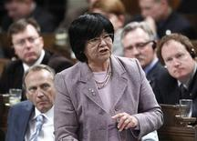 Canada's International Cooperation Minister Bev Oda speaks during Question Period in the House of Commons on Parliament Hill in Ottawa April 30, 2012. REUTERS/Chris Wattie