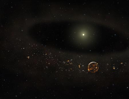Poof! Dust disk that might have made planets disappears