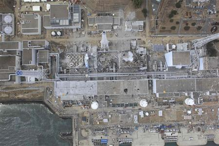 An aerial view of the Fukushima Daiichi Nuclear Power Station is seen in Fukushima Prefecture in this file photo taken by Air Photo Service on March 20, 2011. REUTERS/Air Photo Service/Files