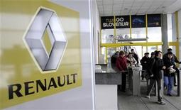 Workers leave the Revoz factory that produces cars for Renault in Novo Mesto March 24, 2009. REUTERS/Srdjan Zivulovic