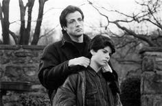 """Actor Sylvester Stallone portrays Rocky Balboa in a scene with his real life son, Sage Stallone, who portrays Rocky Balboa Jr., in the 1990 film """"Rocky V"""" in this undated publicity photograph released to Reuters on July 14, 2012. Aspiring actor and filmmaker Sage Stallone, 36, was found dead on July 13, 2012 at his home in Hollywood, authorities and his attorney said. REUTERS/Courtesy MGM/UA/Handout"""