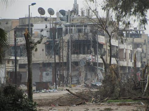 The ruins of Homs