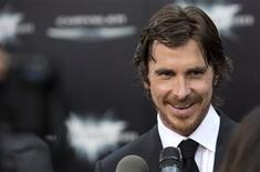 """Cast member Christian Bale attends the world premiere of """"The Dark Knight Rises"""" in New York July 16, 2012. REUTERS/Andrew Kelly"""