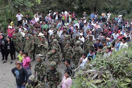 Colombian forces clash with indigenous group, blame rebels