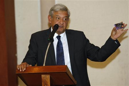 Mexico leftist alleges money laundering in presidential election