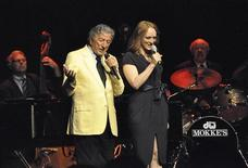 Tony Bennett (L) and his daughter Antonia perform at a concert in Rome July 14, 2012. Bennett, whose father was born in southern Italy, says in an interview with Reuters that he gets emotional every time he returns to the land of his roots. Picture taken July 14, 2012. REUTERS/Carmen Pullella