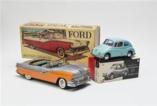 "An undated handout file photo shows a Ford convertible toy car (L) and a Subaru 360 toy car that will be displayed at the ""Century of the Child: Growing by Design, 1900-2000"" exhibit at the Museum of Modern Art. REUTERS/Copyright 2011 The Museum of Modern Art (MoMA), New York/EPW Studio/Handout"