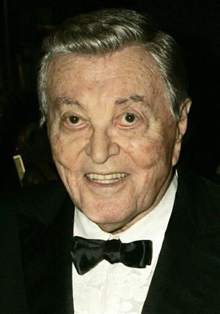 Singer Tony Martin is shown at the Thalians 50th anniversary gala in Los Angeles in this October 8, 2005 file photograph. REUTERS/Fred Prouser/Files