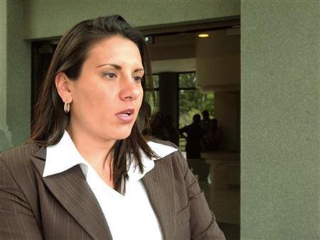 7月31日、コスタリカの文化・青年省は、下着姿の動画がインターネット上に流出したカリナ・ボラニョス次官を解任したと発表。写真は昨年撮影(2012年 ロイター/Alexander Otarola)