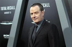 """Cast member Bryan Cranston poses at the premiere of """"Total Recall"""" at the Grauman's Chinese theatre in Hollywood, California August 1, 2012. The movie opens in the U.S. on August 3. REUTERS/Mario Anzuoni"""