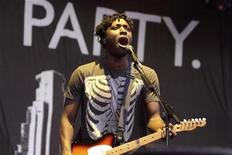 Lead vocalist Kele Okereke of the English band Bloc Party performs at the Virgin Music Festival on Toronto Island, Canada, September 6, 2008. REUTERS/Jill Kitchener