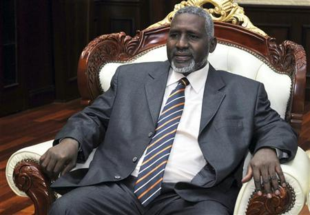 Sudan's Vice President al-Haj Adam Youssef looks on after his oath-taking ceremony in Khartoum September 14, 2011. REUTERS/Stringer