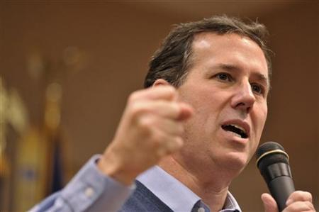 Republican U.S. presidential candidate and former Pennsylvania Senator Rick Santorum speaks with supporters at a town hall meeting held at the American Legion Hall in Lady Lake, Florida, January 23, 2012. RREUTERS/Octavian Cantilli