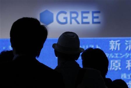 8月14日、グリーは2013年6月期の連結業績予想について、営業利益を740―840億円にしたと発表。2011年9月撮影(2012年 ロイター/Kim Kyung Hoon)
