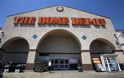 The entrance to The Home Depot store is pictured in Monrovia, California August 13, 2012. REUTERS/Mario Anzuoni